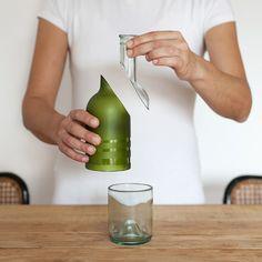Lucia Bruni Lucirmás Pure Bottle botella partida vaso glass wtf diseño design miraquechulo