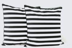 Kissen Stripes 2 cm schwarz-weiß 50 x 50 cm