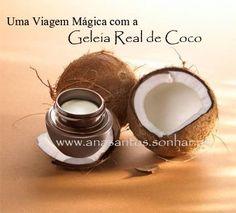 Geleia Real de Coco - Nos dias quentes de Verão muitas pessoas optam pela água de coco para se refrescar. Mas sabia que a água de coco além de refrescar e matar a sede, tem minerais e vitaminas que fazem bem à sua saúde?    A água do coco é e