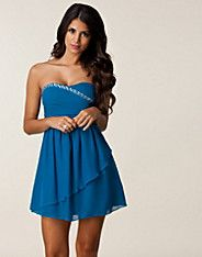 Jen Bandeau Prom Dress - Oneness - Blue - Party dresses - Clothing - NELLY.COM Fashion on the net