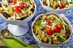 Salada de Soja com Berinjela » Receitas Saudáveis, Saladas » Guloso e Saudável