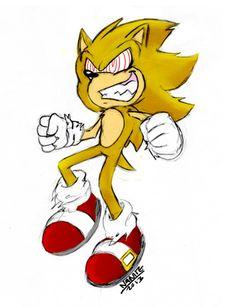 Fleetway Super Sonic   deviantART: More Like Sonic The Werehog Wallpaper by ...