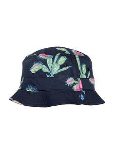 Carnivore Reversible Bucket Hat (Navy/Burgundy) | Mishka NYC