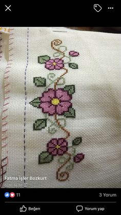 Cross Stitch Tree, Simple Cross Stitch, Modern Cross Stitch, Cross Stitch Flowers, Cross Stitch Patterns, Rose Embroidery, Modern Embroidery, Embroidery Hoop Art, Green Pillow Cases