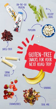 Looking for easy gluten-free snacks for your next road trip? Grab a deliciously smooth Drink Chobani yogurt beverage and get going!