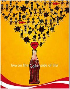 Beautiful Coke art illustrations by Cenika