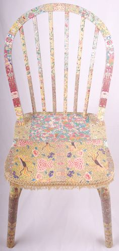 Wooden decoupage chair Olivia by kitschemporium on Etsy, £180.00