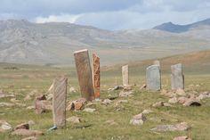 #Deer stone site near #Mörön in #Mongolia. https://ExploreTraveler.com