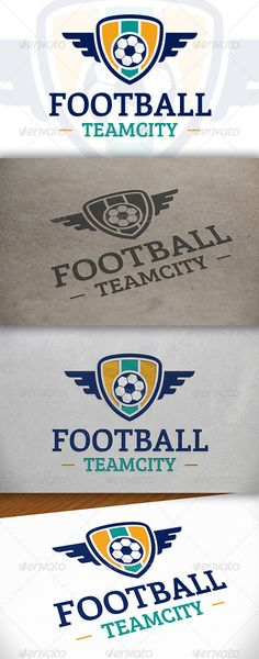 Football Logo Template — Vector EPS #crest #kick • Available here → https://graphicriver.net/item/football-logo-template/6651649?ref=pxcr
