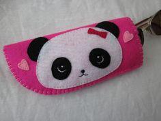 Kawaii Panda Eyeglasses/ Sunglasses Case by LookHappyShop, via Flickr