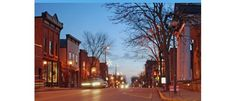 Dodgeville, Wisconsin  - the main street in town, even though it is called Iowa Street and Main Street is a block away