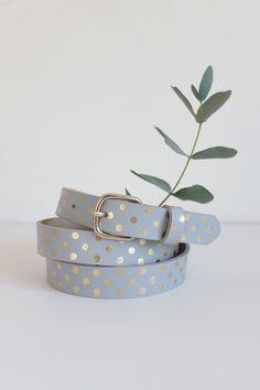 ceinture Wad gris 100% cuir de bovin - accessoire Femme - Des Collection  Printemps Été e99d73db56b