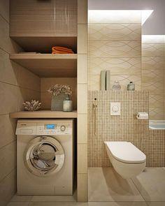 """Résultat de recherche d'images pour """"salle de bain petite surface avec lave linge"""""""