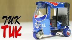 How To Make An Electric Rickshaw (Tuk Tuk ) Out Of Pepsi Cans