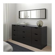 NORDLI anthracite, Chest of 9 drawers, cm. You can build NORDLI chest of drawers any which way – wide, low or in different heights to create the perfect solution for your space. The clean modern look is easy to place. Nordli Ikea, Ikea Malm Dresser, Small Drawers, Chest Of Drawers, Shabby Chic Furniture, Home Furniture, Small Bedroom Storage, Ikea Family, Painted Drawers
