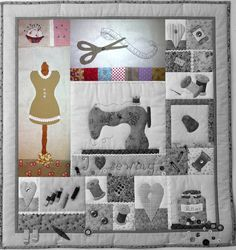 Resultado de imagen de pinterest fundas maquinas de coser patchwork Applique, Calendar, Kids Rugs, Quilts, Sewing, Holiday Decor, Frame, Singular, Home Decor