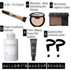 Mallory's Makeup School Week 3, makeup, makeup lessons, glam, makeup addict, makeup tutorial, la girl pro conceal, bars, beck, olaplaex, primer