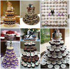 Una nueva tendencia que llegó a la Argentina: señoras y señores llegaron las tortas de casamiento con cupcakes! Copiáte estas ideas increíbl