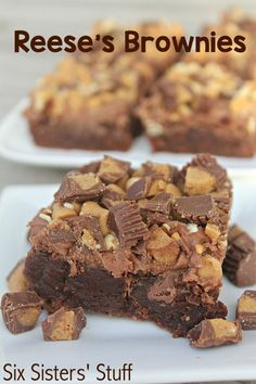 These Reese's Brownies from SixSistersStuff are my new favorite dessert! It's impossible to have just one.