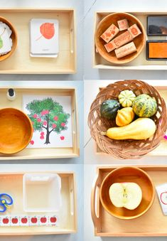 Fall Shelf Work for Toddlers - Teacher and the Tots Montessori-Inspired Fall Shelf Work for Toddlers Montessori Baby, Montessori Trays, Montessori Classroom, Montessori Materials, Montessori Activities, Preschool Activities, Montessori Quotes, Montessori Elementary, Fall Crafts For Toddlers