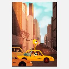 Yellow Cab Print now featured on Fab.