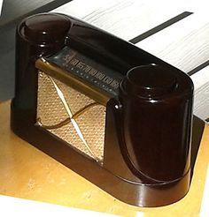 1947 Stewart Warner B51T2 AIR PAL ART Deco Bakelite Radio Moderne Rare   eBay
