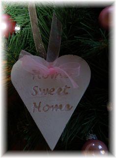 Zelfgemaakte Geursteen Hart Home Sweet Home.