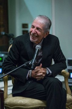 Leonard Cohen in good spirits