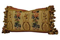 French Needlepoint Pillow w/ Tassels on OneKingsLane.com