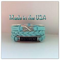 Best Friends Forever Bracelet Charm Bracelet by QberryCreations, $15.00