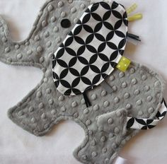 Elephant for baby: in another life I could sew this.