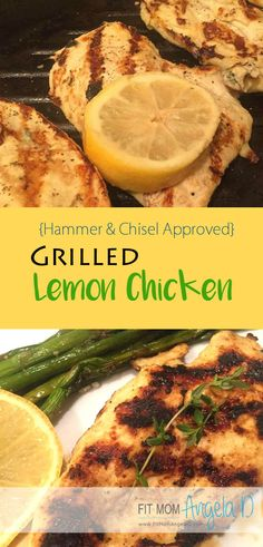 Hammer and Chisel, 21 Day Fix, 21 Day Fix Extreme: Approved!   Quick and easy chicken recipe to marinade and throw on the grill!  Serve with roasted veggies | www.fitmomangelad.com | Clean Eats | Grill Food | Fix Approved