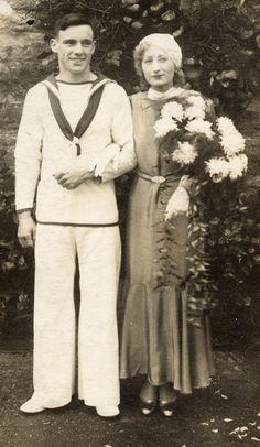 Bill & Peggy's wedding - 1930s