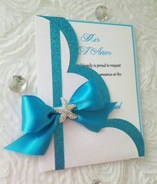 Under the sea theme Invitation. Lace Wedding Invitations, Wedding Cards, Under The Sea Decorations, Envelopes, Paper Flowers Craft, Under The Sea Theme, Baby Girl Cards, Diy Gift Box, Fun Fold Cards
