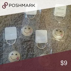 Smile tongue emoji keychains PRICE IS FOR ONE  Cute Emoji keychain Accessories Key & Card Holders