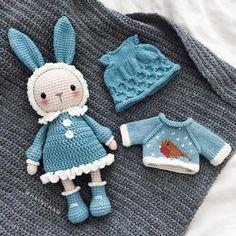 Mesmerizing Crochet an Amigurumi Rabbit Ideas. Lovely Crochet an Amigurumi Rabbit Ideas. Crochet Bunny Pattern, Crochet Patterns Amigurumi, Cute Crochet, Amigurumi Doll, Crochet Dolls, Kawaii Crochet, Easy Crochet Projects, Crochet Crafts, Crochet Ideas