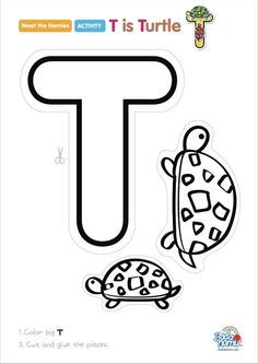 Letter T Worksheets and Coloring Pages for Preschoolers #