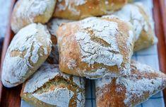 Gör goda frallor som du bakar av på morgonen! Croissants, Baby Food Recipes, Bread Recipes, Bread Bun, No Bake Desserts, Bread Baking, Food Inspiration, Baked Goods, Brunch