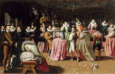 Ball in the court of Henri III, second half of the XVIth century