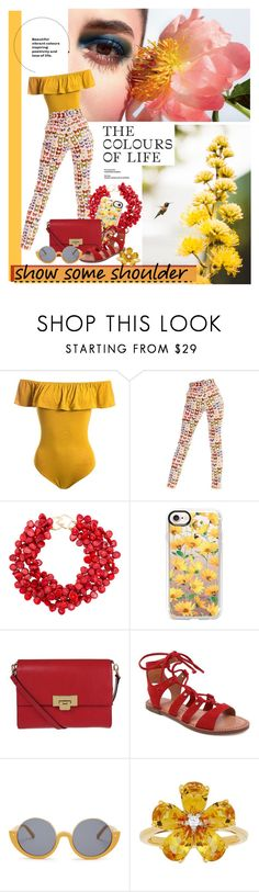 """""""Untitled #933"""" by fashion-film-fun ❤ liked on Polyvore featuring Sans Souci, Versace, Kenneth Jay Lane, Casetify, Lodis, Dolce Vita, Marni and David Tutera"""