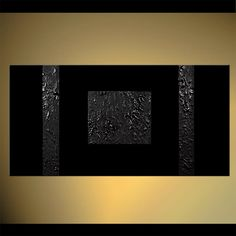 Original abstract art paintings by Osnat - black geometrical painting