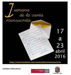 ¡Queremos escribir cartas! – I Semana de la carta manuscrita