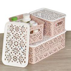 Storage Bins With Lids, Craft Storage, Storage Boxes, Storage Baskets, Storage Spaces, Cabinet Storage, Hanging Storage, Storage Ideas, Stackable Bins