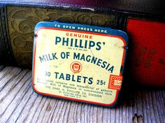 Small Vintage Tin  Phillips Milk of Magnesia by 2VintageGypsies