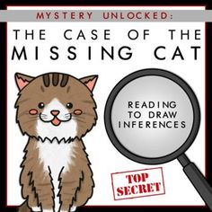 Top Secret! The Case of the Missing Cat is yet to be solved. Students will learn the mystery of the missing cat and will read to draw inferences in order to solve the case. #theunderratedteacher #underratedteacher #tpt #teacherresources #kindergarten #prek #readingstrategies #inferences #mystery #literacy #readingcomprehension #reading #readinggroups #smallgroupinstruction Reading Groups, Reading Strategies, Reading Comprehension, Inference, Teacher Resources, Mystery, Homeschool, Cats, Gatos