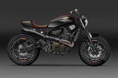 Cafe Racer Pasión — Yamaha Street Tracker Design by Kustomeka . Suzuki Cafe Racer, Cafe Racer Bikes, Cafe Racer Motorcycle, Cafe Racers, Cafe Bike, Motorcycle Garage, Scrambler Yamaha, Yamaha Fz 07, Yamaha Bikes
