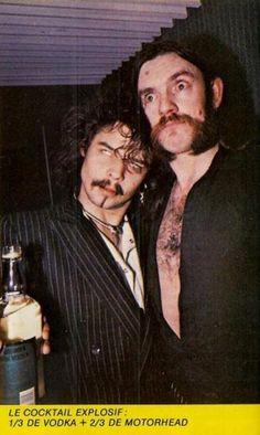 Lemmy and Phil Taylor Eddie Clarke, Rock Y Metal, Heavy Metal Art, Heavy Rock, Tribute, Rockn Roll, Music Photo, People Like, Music Bands
