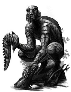 Creature of the Black Lagoon 2015 by Onikaizer lizardman murloc fish lizard humanoid anthro mutant hybrid monster beast creature animal   Create your own roleplaying game material w/ RPG Bard: www.rpgbard.com   Writing inspiration for Dungeons and Dragons DND D&D Pathfinder PFRPG Warhammer 40k Star Wars Shadowrun Call of Cthulhu Lord of the Rings LoTR + d20 fantasy science fiction scifi horror design   Not Trusty Sword art: click artwork for source