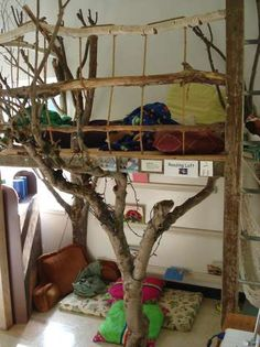 Ideas for creating quiet spaces for young children in early childhood environments.