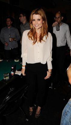 JoAnna Garcia's black & white outfit - 2012 James Blake Foundation Charity